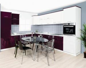 Kuhinja In MDF (Violet-belo sjaj)